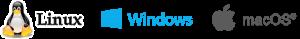 logo Linux Windows et Mac