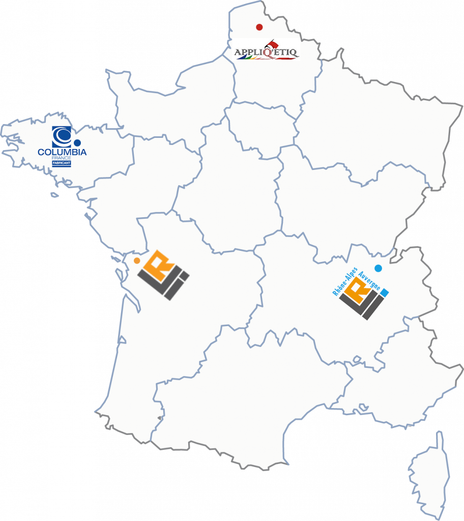 carte de France avec position La Rochelle Innovation