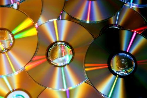 DVD gravés et lus par la technologie laser