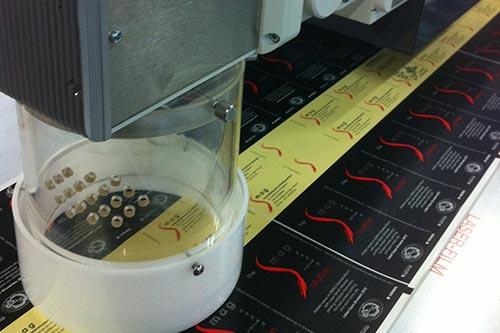 marquage au laser avec étiquettes thermiques
