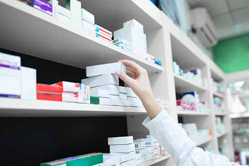 boites médicaments code-barres pharmacie