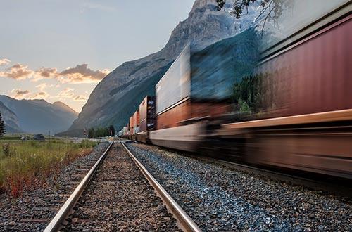 transport de palettes par le train