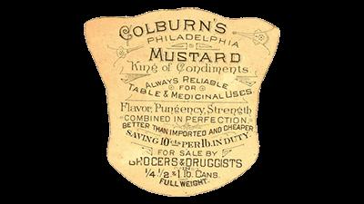 ancienne étiquette de moutarde