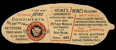 ancienne étiquette ketchup Heinz