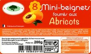 étiquette produit alimentaire gâteaux
