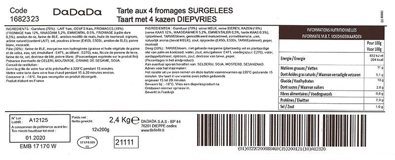 étiquette produit alimentaire imprimée avec LRI WebPrint