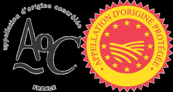 logos appellation d'origine contrôlée et d'origine protégée